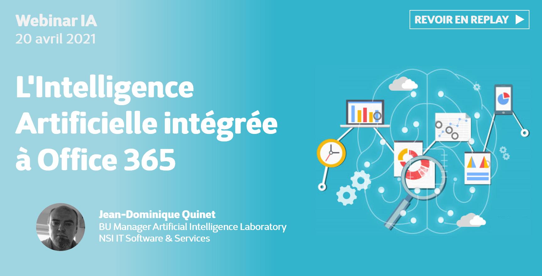 Replay webinaire - L'intelligence artificielle intégrée à Office 365