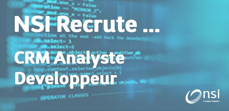 NSI recrute : Analyste-Développeur orienté produit - CRM (H/F)