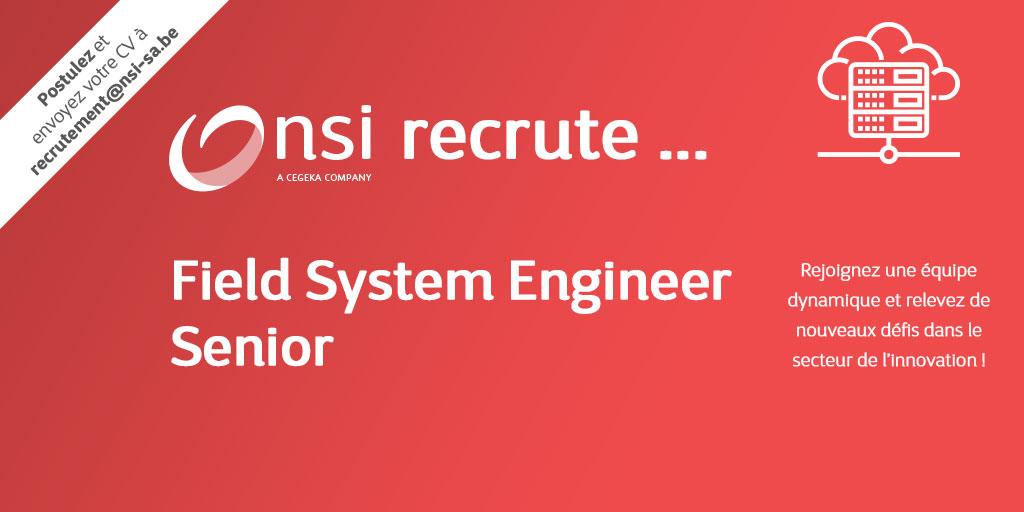 NSI recrute : Field System Engineer Senior (H/F)