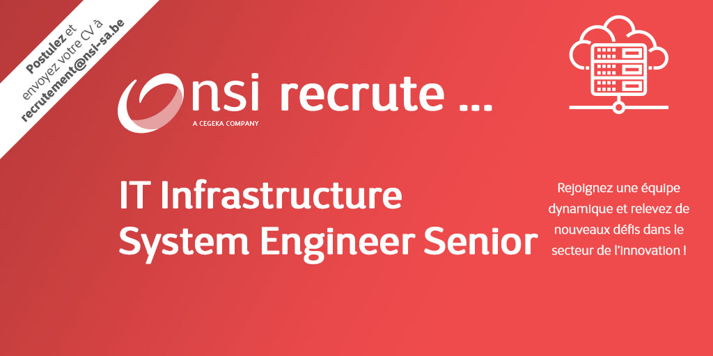 NSI recrute : IT Infrastructure System Engineer Senior (h/f)
