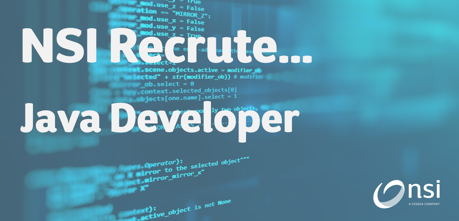 NSI recrute : Java Developer