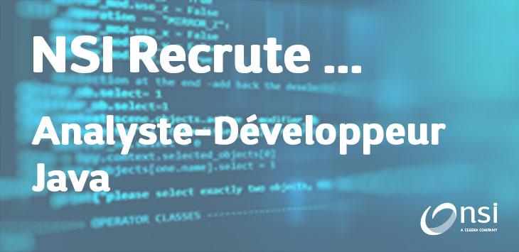NSI recrute : Analyste-Développeur Java