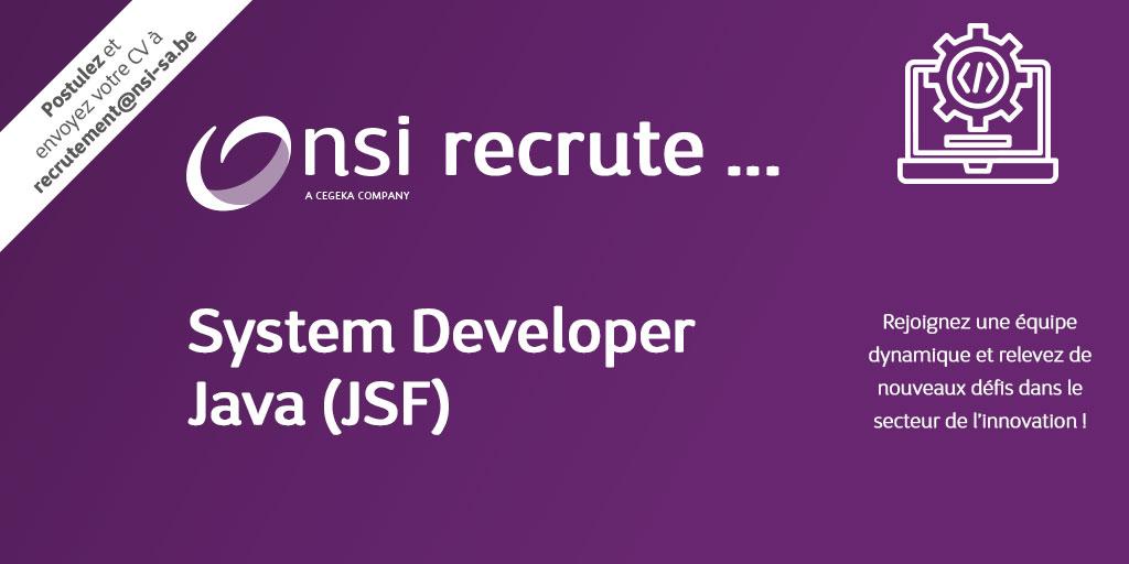 NSI recrute : System Developer Java (JSF)