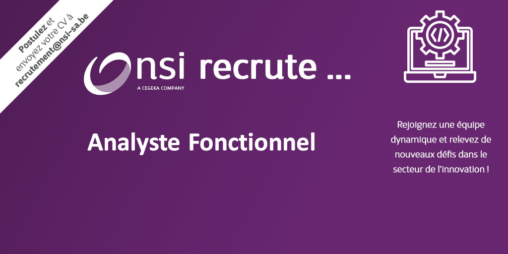 NSI recrute : Analyste Fonctionnel