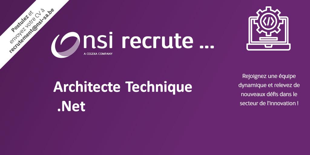 NSI recrute : Architecte Technique .Net