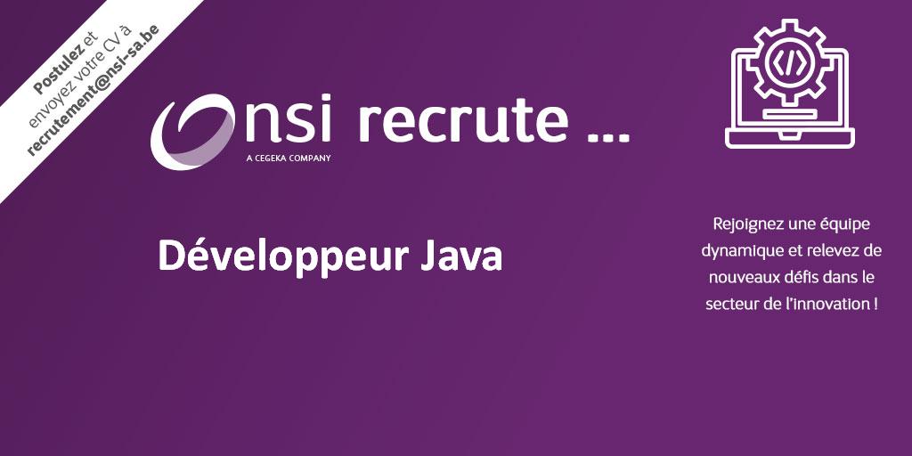 NSI recrute : Développeur Java