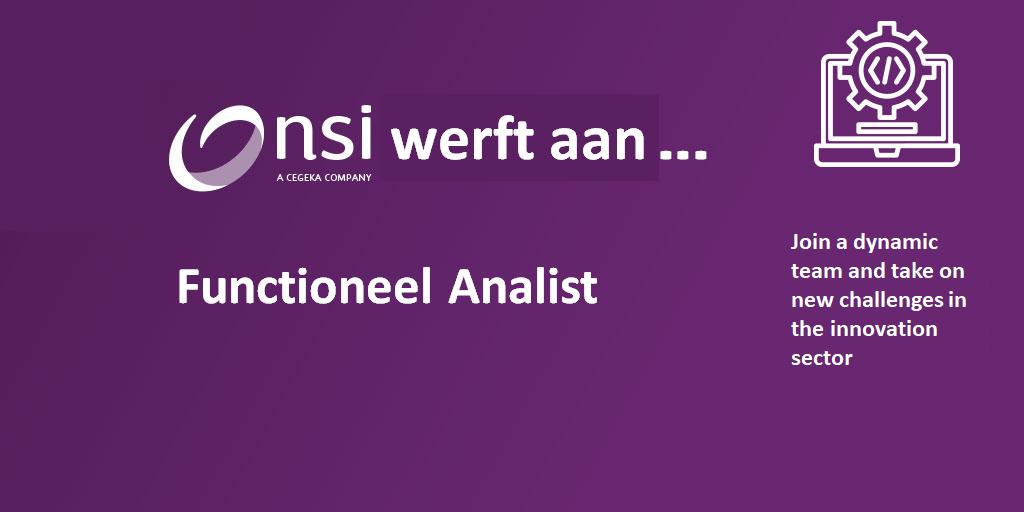 NSI werft aan : Functioneel Analist