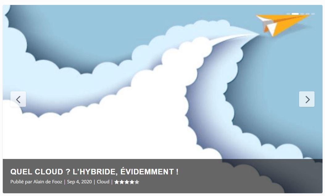 Quel Cloud ? L'Hybride évidemment !