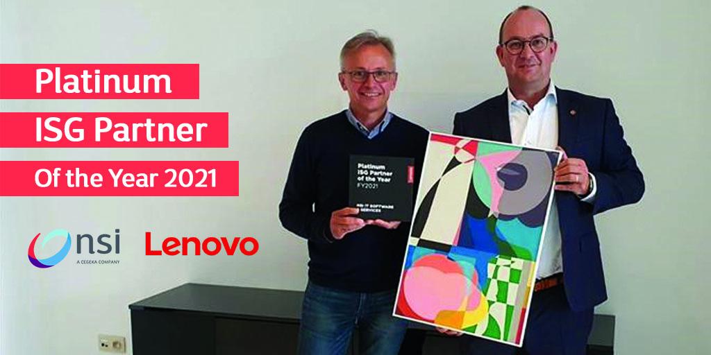 NSI - Platinum ISG Partner of the Year Lenovo